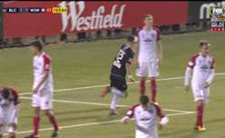 James Andrew netted his second of the night to give Blacktown City a shock 2-1 lead over Western Sydney Wanderers.
