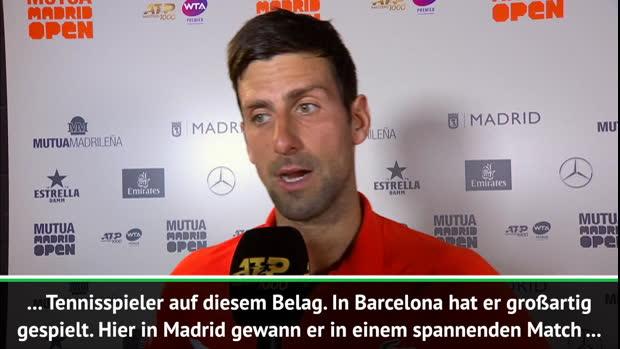 """Madrid: Djokovic: """"Mein bestes Spiel bisher"""""""