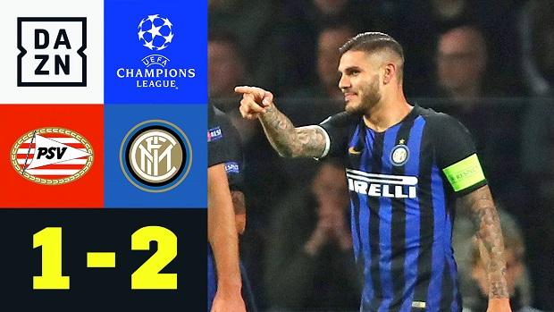 UEFA Champions League: PSV - Inter Mailand | DAZN Highlights