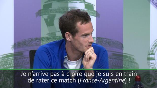 """Basket : Wimbledon - Murray - """"Je n'arrive pas à croire que je rate France-Argentine !"""""""