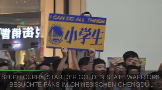 Golden States Steph Curry auf Asien-Tour