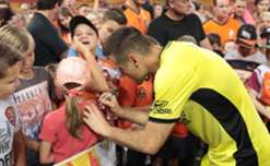 This Saturday against Perth Glory at NIB Stadium Roar's #1 Michael Theo will play game 150 for Brisbane. Our triple championship-winning keeper has had some amazing moments in Orange!