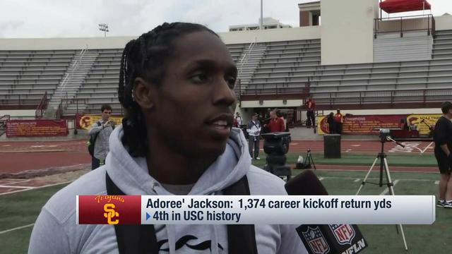 USC defensive back Adoree' Jackson on honing DB skills: 'Sky's the limit'
