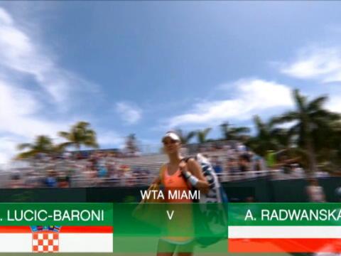 تنس: بطولة ميامي: لوسيتش باروني تهزم رادفنسكا 6-0 6-3