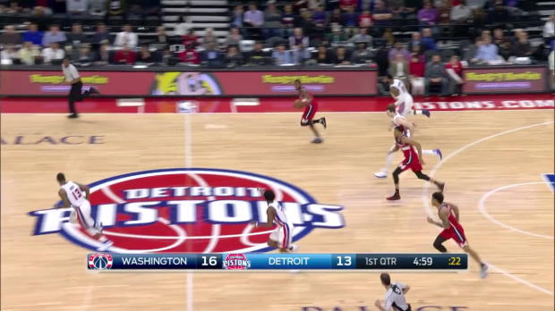 WSC: John Wall with 10 Assists against the Pistons