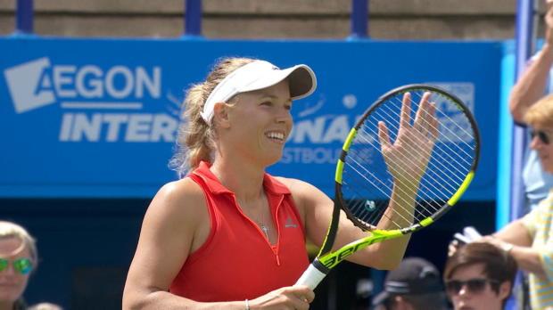 Eastbourne: Wozniacki kämpft sich ins Finale