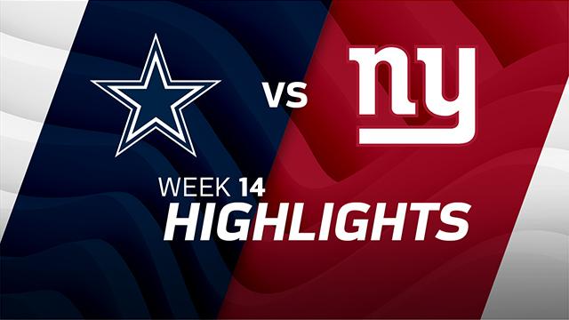 Dallas Cowboys vs. New York Giants highlights | Week 14