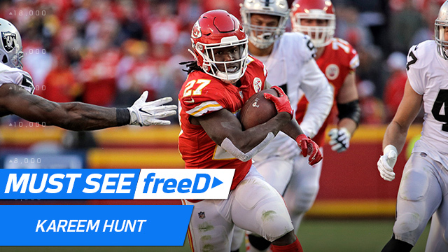 freeD: See Kareem Hunt's epic hurdle vs. Raiders in 360 degrees | Week 14