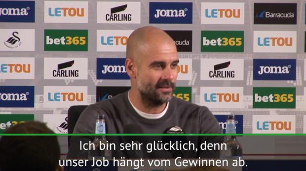 """15 Siege! Guardiola: """"Immer weiter gewinnen"""""""