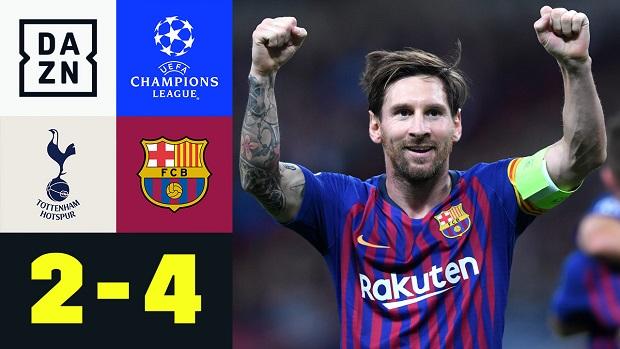 UEFA Champions League: Tottenham - FC Barcelona | DAZN Highlights