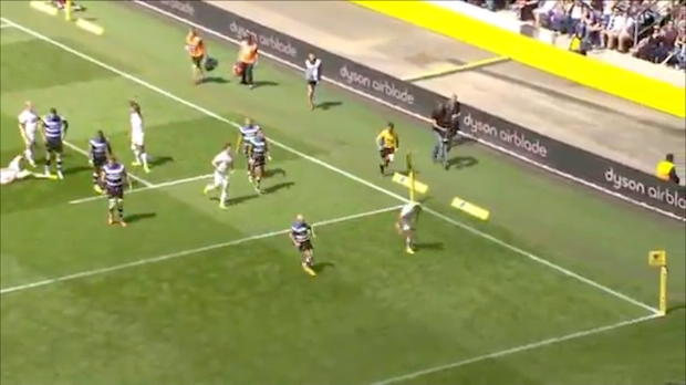 Aviva Premiership - IMAGINE CHANGE MOMENT 1 - Farrell's try