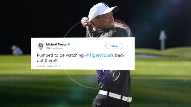 Stars welcome Tiger's return