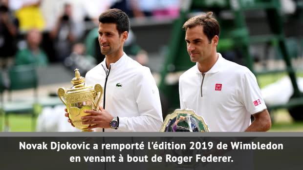 Basket : Wimbledon - Djokovic sacré contre Federer au terme d'un duel de légende