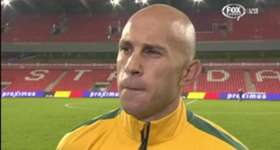 Socceroos midfielder Mark Bresciano says the side struggled in transition after going down to Belgium.