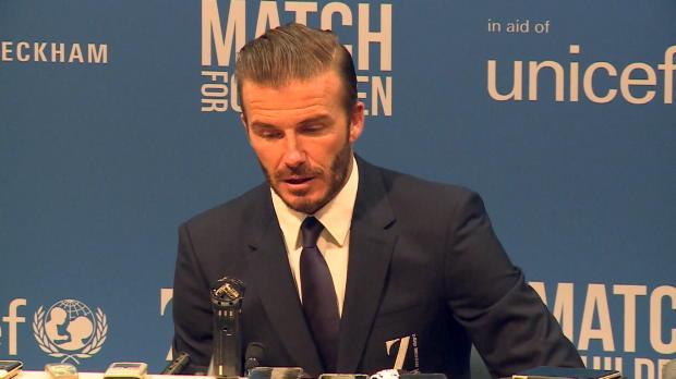 """UNICEF-Spiel: Beckham: """"In Gedanken in Paris"""""""