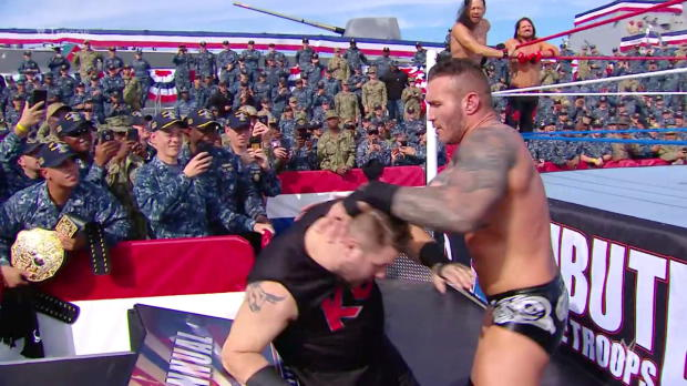 AJ Styles, Randy Orton & Shinsuke Nakamura vs. Jinder Mahal, Kevin Owens & Sami Zayn - Six-Man Tag Team Match: WWE Tribute to the Troops 2017