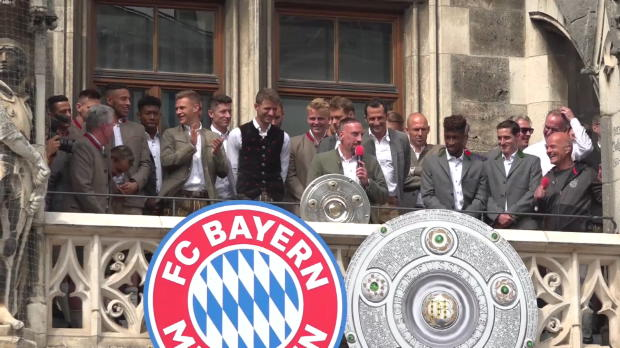 Ribery und Rafinha mit Dank an Jupp Heynckes