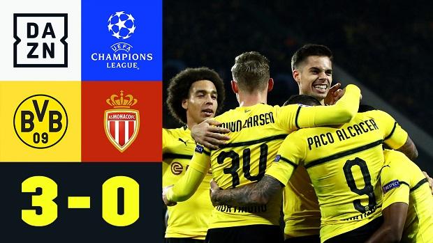 UEFA Champions League: Borussia Dortmund - Monaco | DAZN Highlights