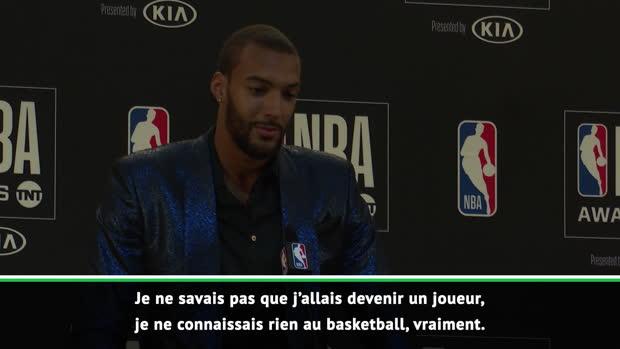 """Basket : NBA Awards - Gobert - """"Je n'aurais jamais pensé pouvoir être capable de le faire"""""""