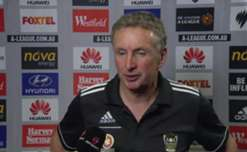 Wellington Phoneix coach Ernie Merrick speaks to the media after his sides 2-1 win at home against Adelaide United.