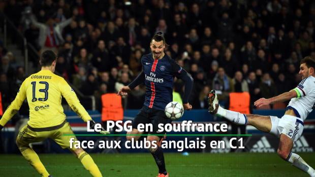 8es - Le PSG en souffrance face aux clubs anglais