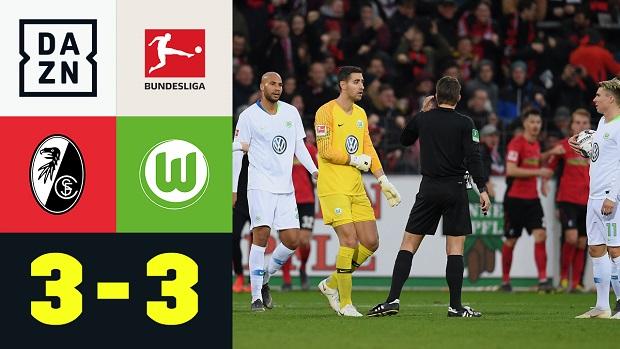 Bundesliga: SC Freiburg - VfL Wolfsburg | DAZN Highlights