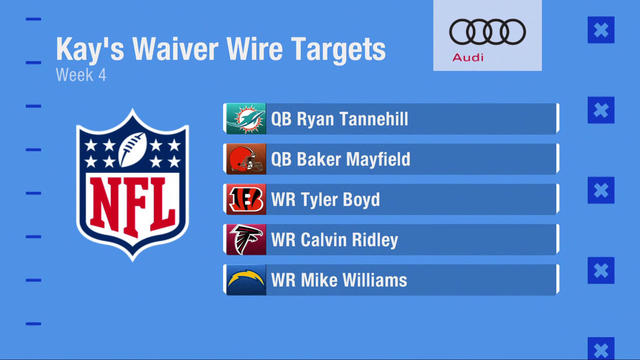 Kay Adams' Week 4 fantasy waiver wire targets