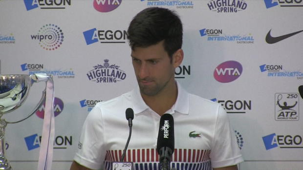 "Basket : Eastbourne - Djokovic - ""J'ai bien fait de venir !"""