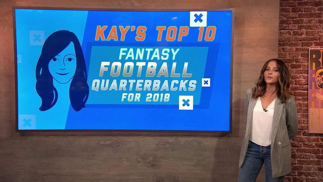 Kay's top 10 fantasy football QBs for 2018