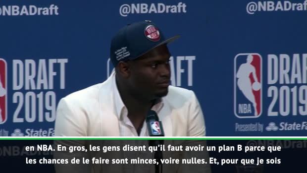 """Basket : Draft 2019 - Zion - """"Mes émotions ont pris le dessus"""""""