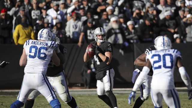 Derek Carr's timing and touch