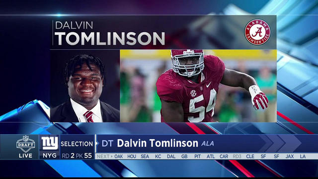 Harry Carson announces Giants' selection Dalvin Tomlinson No. 55 in the 2017 NFL Draft