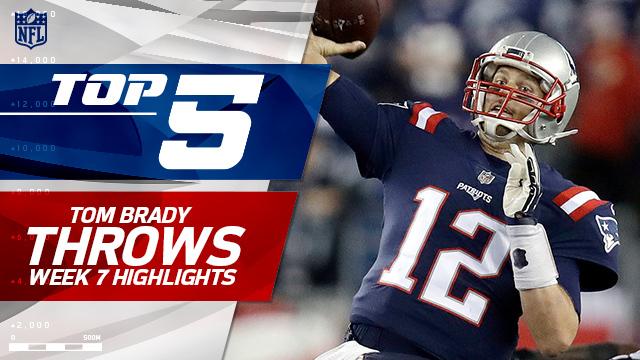 Tom Brady's Top 5 throws | Week 7