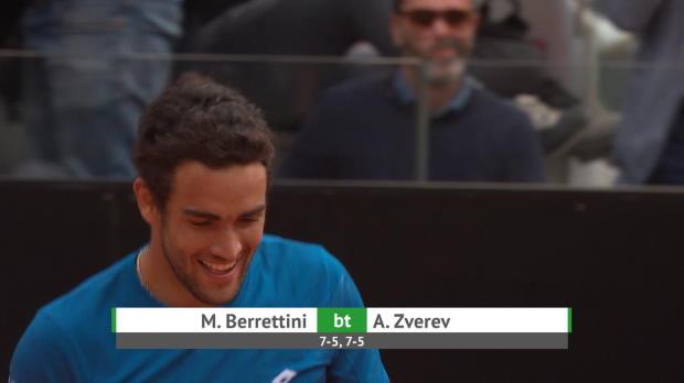 : Rome - Zverev sorti par Berrettini d'entrée