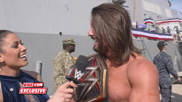 WWE Champion AJ Styles reflects on the experience of competing in front of the U.S. military before battling Jinder Mahal: WWE.com Exclusive, Dec. 14, 2017