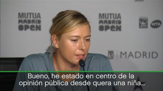 """Sharapova pasa de polémicas: """"He oído muchas cosas sobre mi desde niña"""""""