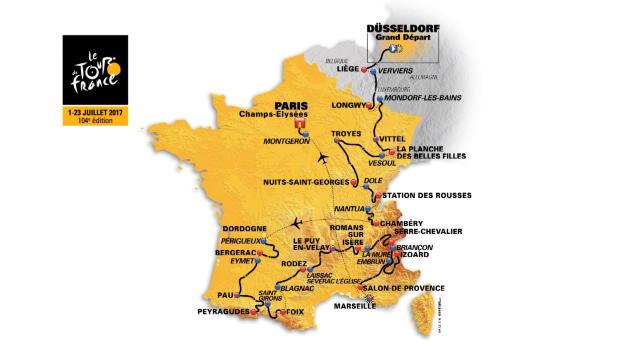 Tour 2017 - El recorrido de la edici�n de 2017