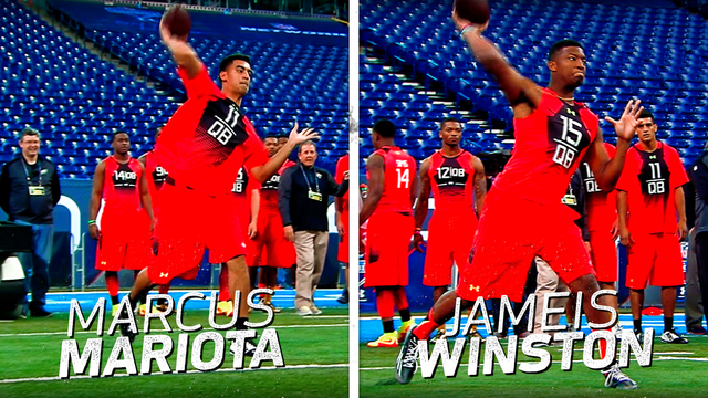 Marcus Mariota vs. Jameis Winston | This Day in NFL Scouting Combine History