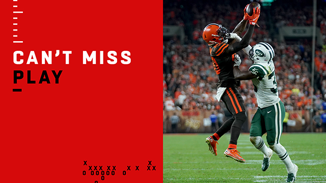 Can't-Miss Play: Bless 'em! Jarvis snatches pass over defender's helmet