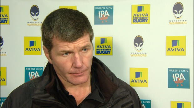 Aviva Premiership - Rob Baxter speaking after Exeter Chiefs' 48-32 away victory over Worcester Warriors