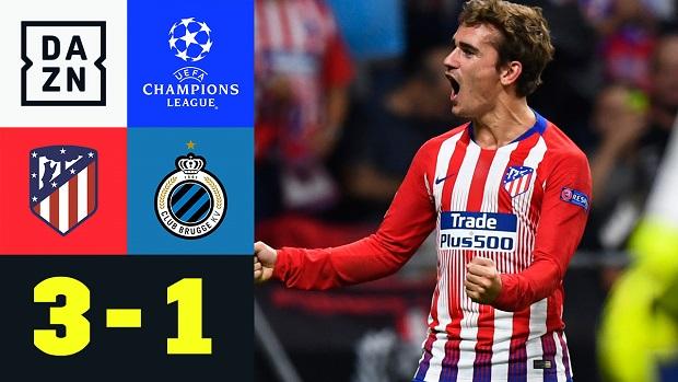 UEFA Champions League: Atletico Madrid - Brügge | DAZN Highlights