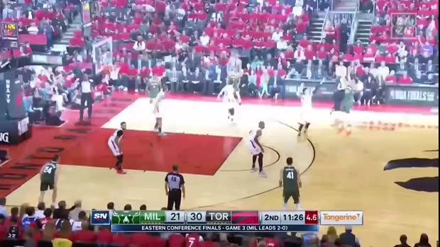 NBA: Drake on fire in Game 3 zwischen Raptors und Bucks