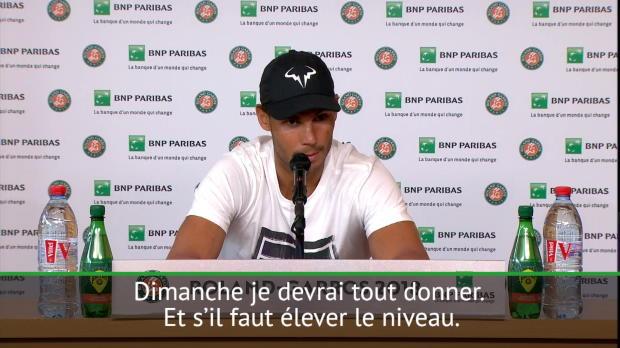 : Roland Garros - Nadal - 'Je devrai jouer mon meilleur tennis pour battre Thiem'