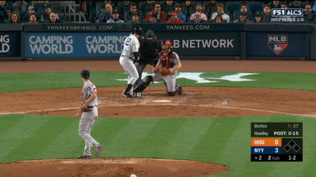 Headley not hit-by-pitch