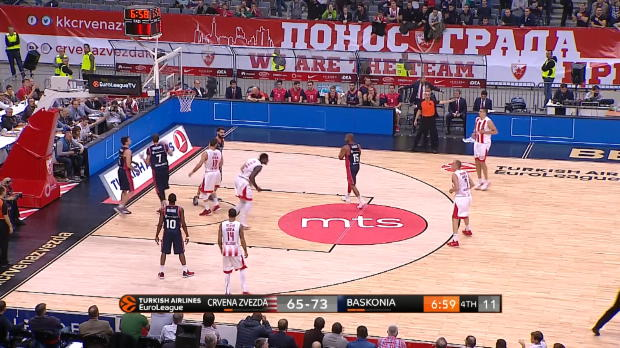 Basket : Euroligue (9e j.) - L'Etoile Rouge s'incline malgré un excellent Lessort