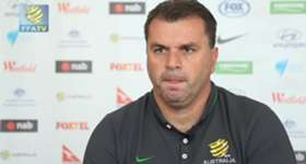 Socceroos coach Ange Postecoglo says his squad can't wait to test themselves against Belgium.