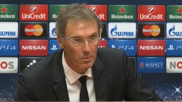 """Foot : LDC - Groupe F, PSG, Blanc : """"J'ai félicité Lucas pour son match"""""""