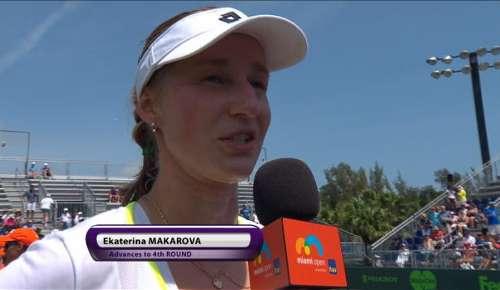 Makarova Interview: WTA Miami 3R