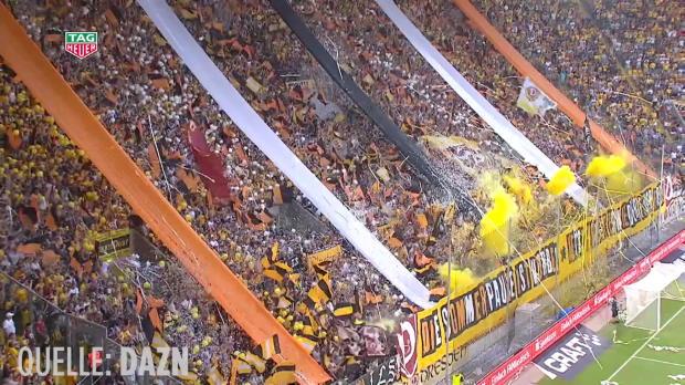 Dynamo-Fans feiern Saisonstart