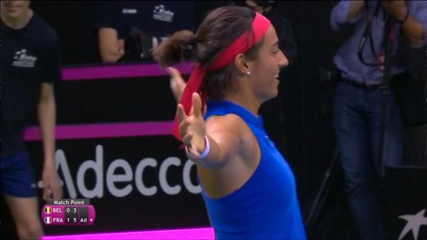 Tennis : Fed Cup - Garcia surclasse Mertens et envoie la France en demies